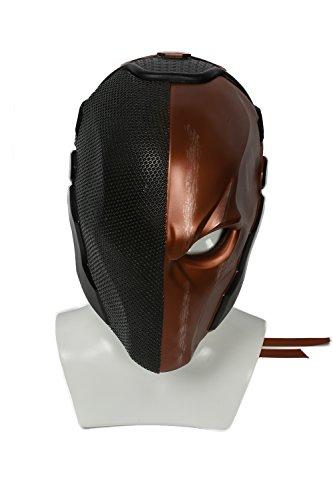 am Spiel Cosplay Kostüm Harz Helm für Erwachsene Herren Kleidung Merchandise Zubehör (Kostüm Deathstroke)
