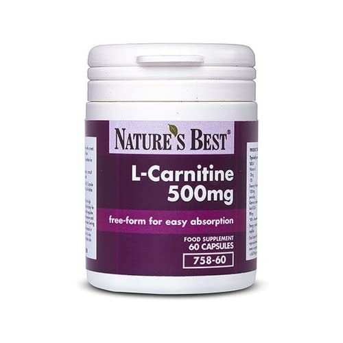 Acetyl L-Carnitine 500mg | 60 Vegan Capsules | Pure Grade in A Free-Form State | 2 Month's Supply |...