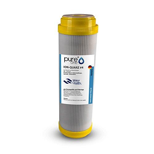 PureOne ION Quarz #4 Anti Eisen. Ergänzend zu Manganfilter. Quarzkies z. Wasser Enteisenung und Filtration. Die Wasserfilter-Kartusche f. Hauswasserwerk Wasserpumpen. Für 10