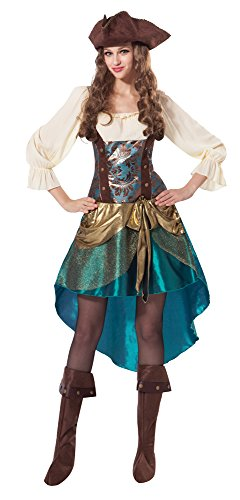 7 Pirat Prinzessin Deluxe Kleid (UK 10–14) (Piraten Prinzessin Kostüme)