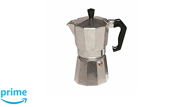 Karl Kruger 502 Aluminum Espresso Maker Square with Silicone Sealing Ring 6 Cup Silver Aluminium