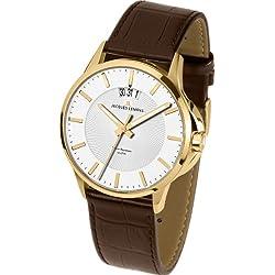 Jacques Lemans Sydney 1-1540C Men's Brown Leather Strap Watch