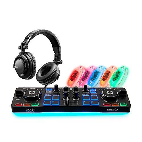 Hercules DJ Party Set - DJControl Starlight Controller - HDP DJ45 Kopfhörer - Lichteffekte Armbänder