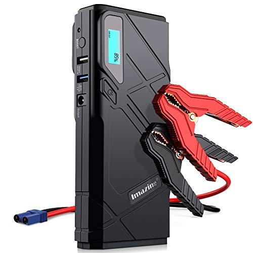 Imazing Booster Batterie,1500A 12000mAh Portable Jump Starter, Démarrage de Voiture (...