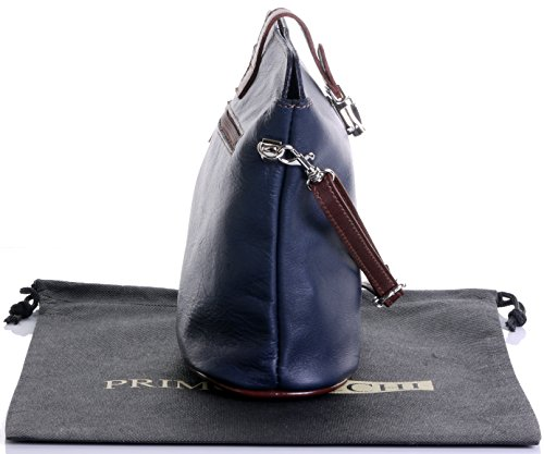 Italienisch Weichleder, Kleine Cross Body oder Umhängetasche Handtasche. Enthält eine Schutzaufbewahrungstasche. Marineblau