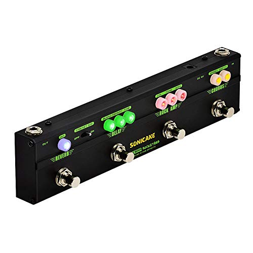 Unit Gehäuse (Sonicake Multi Guitar Effect Strip Pedal SonicbarRockstageCombining 4Classic Arena Rock Guitar Effects in 1 Unit of Chorus Distortion Delay and Reverb Effect)