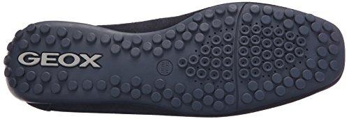 Geox Snake Mokassin Schuhe blau Slipper U62D6A dunkel-blau