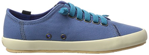 Camper Borne, Baskets Basses Femme Bleu (Medium Blue 008)