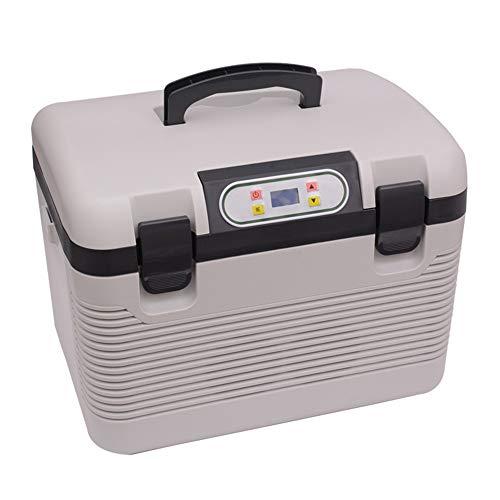 WiaLx Outdoor Sports Travel Camping und Zuhause Autokühlung und Erwärmung Mini Kühlschrank 19L Thermoelektrisches System Mit AC/DC-Adapter Tragbarer Autokühlschrank -