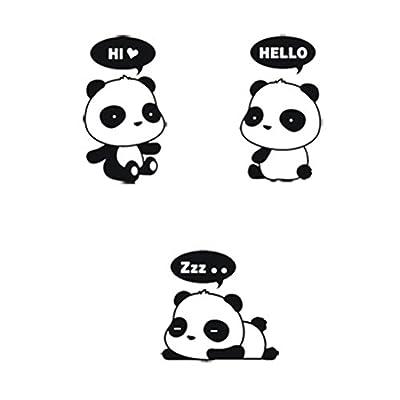 BESTIM INCUK 9-Piece 3 Styles Cute Removable Panda Home Switch Socket Window Notebook Sticker