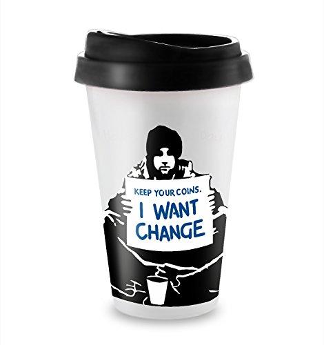 Halten Sie Ihre Münzen Ich möchte Ändern Reise latte Becher (7 Unzen Reise Latte Becher) (Münze Becher)