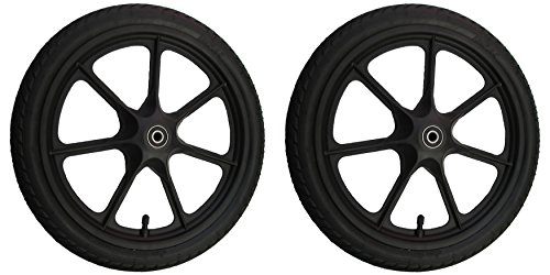 2x 16 Zoll, 16 x 1,75 Rad für 12mm Achsen 47-305 Kunststoff Speichenrad