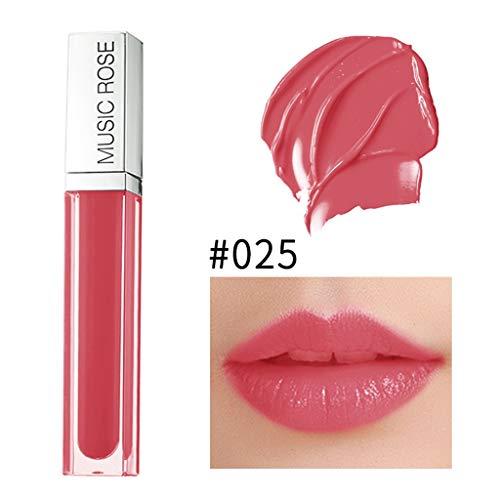 Lipgloss Liquid Matte Glitzer Lippenstift Metallic Pearl Lipgloss Wasserdicht Dauerhaft Wasserdicht Sexy Long Lasting schimmerndes Lipgloss Lippenstift -