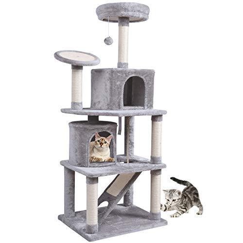 A todos les gusta descansar en un lugar cómodo. También los gatos de nuestros amigos. MC Star Árbol de Gato Grande no solo permite que los gatos duerman cómodamente, sino que también combina varios elementos que le gustan a los gatos, satisface las n...