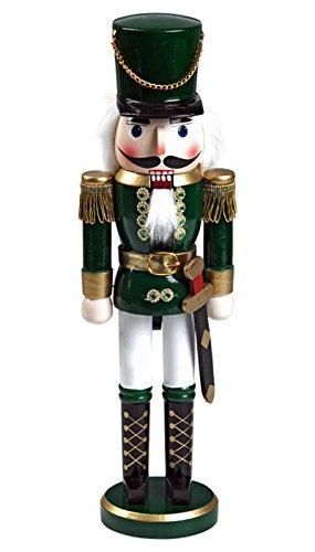 """Nussknacker Nußknacker \""""Soldat\"""" ca. 20 cm hoch aus Holz farbig Weihnachten Advent Geschenk Dekoration (92020-20c)"""