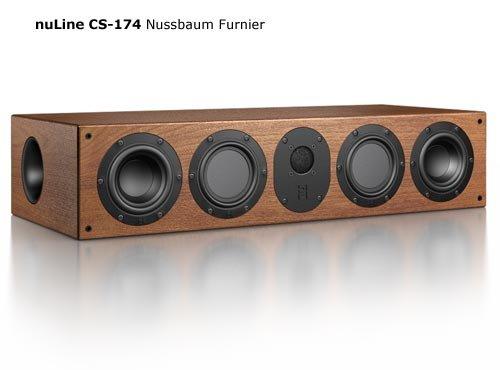 Nubert nuLine CS-174 Center-Lautsprecher 3-Wege (2 x 12cm Tieftöner,2 x 12cm Mitteltöner,2.6cm Hochtöner,150/230Watt,42-23000Hz) Stück, Nussbaum