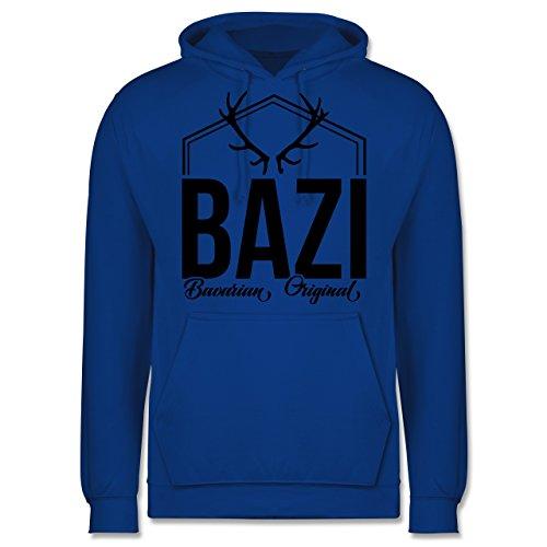 Bayern Männer - Bazi - Original Bavarian - JH001 Herren Kapuzen Pullover Royalblau