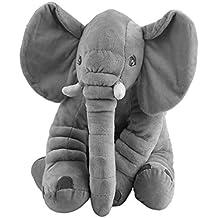 Animal de peluche Cojín Niños Bebé Durmiendo Almohada suave Juguete Lindo Elefante Algodón