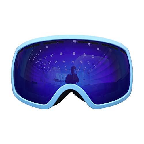 Aienid Fahrradbrille Klar Blau Skibrille Winddichter Augenschutz Size:18X10CM