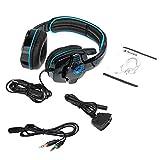 KKmoon SADES SA-708GT 3.5mm Gaming Headphone w/Mic Noise Cancellation Music Stereo Headset Black-Blue