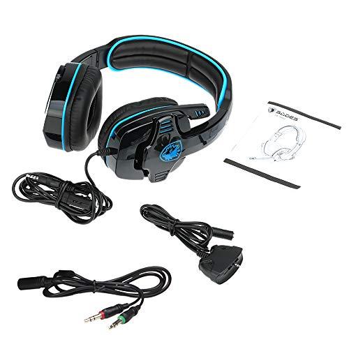 SADES SA-708GT 3.5mm Gaming Kopfhörer Mic Noise Cancellation Musik Headset Schwarz-blau Upgrade Version von SA-708 für PS4 XBOX 360 Tablet PC Handys - 5