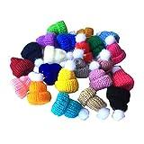 Fully 20 X Puppenmützen Strickmütze Gestrickte Mütze Hüte für Puppen (Kopfumfang: 7cm/2.75')