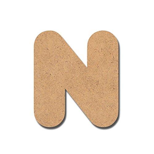 Canevas pour enfant Loisirs créatifs - Lettre en bois 7 cm N