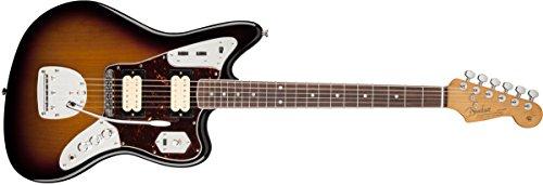 Fender 0143001700 Kurt Cobain Jaguar Rosewood Griffbrett E-Gitarre - Sunburst (Cobain-gitarre Kurt)