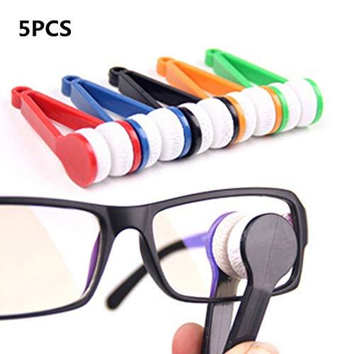Easy Provider 5 X Sonnenbrillen Brillen Mikrofaser Brillenreiniger Soft Brush Cleaning Tool von TheBigThumb, Zufällige Farbe