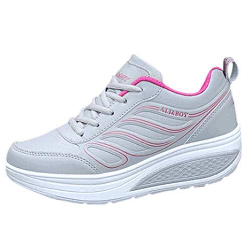 POLPqeD Scarpe Autunno e Inverno da Donna, Scarpe SportivePiatto da Donna Sneakers Traspiranti Scarpe Casual a Croce Scarpe da Ginnastica a Piattaforma Scarpe da Donna da Viaggio