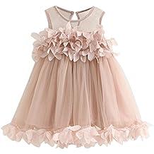 Ropa de niña, vestido de princesa con estampado sin mangas, moda tierna para princesitas