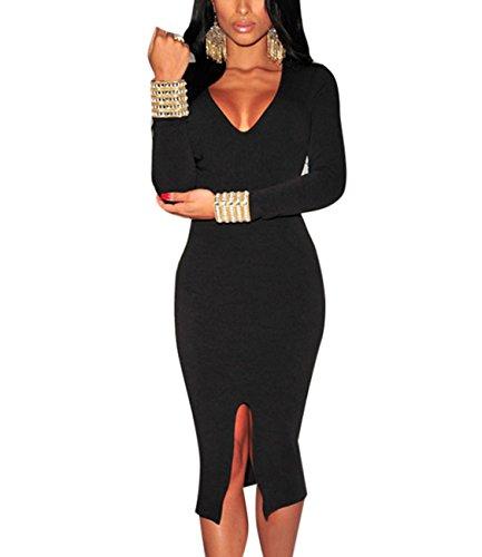 Toocool - Robe - Moulante - Femme Noir
