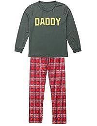 Conjunto de Pijamas Familiares de Navidad, Trajes Navideños para Mujeres Hombres Niño Niña, Ropa Invierno Sudadera Chándal Suéter Niños de Navidad Gusspower