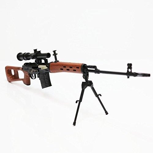 Army Force nicht-Funktions-Spielzeug-Abbildung Dummy-Modell-Installationssatz 1: 6 Dragunov SVD Schwarz / Braun