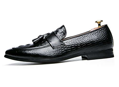 Mens Tassel Shoes Leather Italian Formal Snake Fish Skin Dress Office  Footwear Luxury Brand Fashion Elegant 01f83ea1bf9