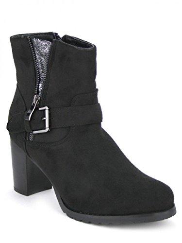 Cendriyon, Bottine Noire ROXANA Mode Chaussures Femme Noir
