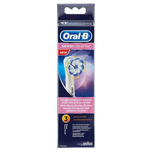 Oral-B Sensi Ultrathin Ersatz-Aufsteckbürsten, für Elektrische Zahnbürsten, 3 Stück