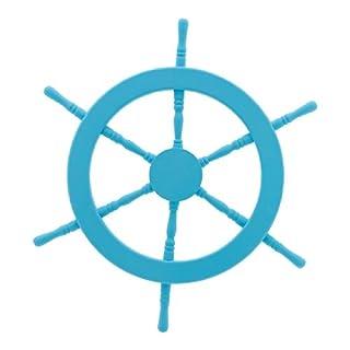 Abama, Durchschnitt: 60cm Steuerrad, Holz, blau