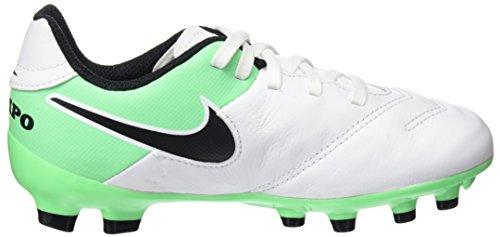 Nike Unisex-Kinder Tiempo Legend Vi Fg Fußballschuhe Mehrfarbig (weiß / schwarz / Elektro-Grün)