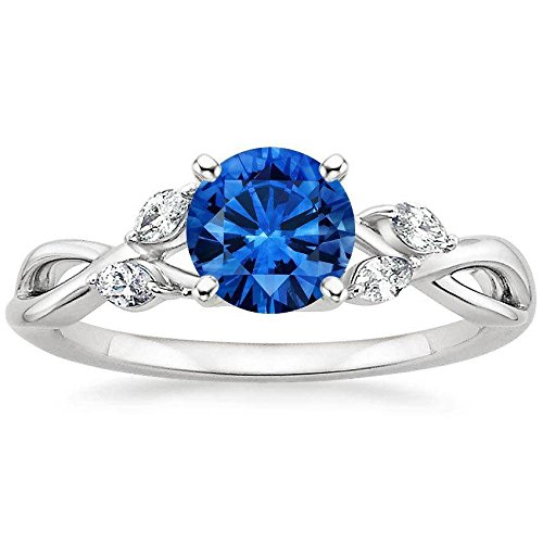 limited-time-sale-antique-affordable-125-carat-sapphire-and-diamond-engagement-ring-in-10k-white-gol