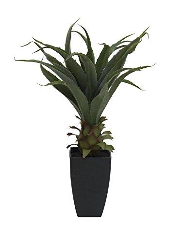 artplants – Künstliche Agave Tulio im Dekotopf, 75 cm – Deko Sukkulenten/Kunst Jahrhundertpflanze
