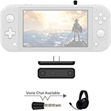 AKNES Ruta de Aire Pro Adaptador Bluetooth para Nintendo Interruptor/Switch Lite ps4 pc, Bluetooth Wireless Audio transmisor de la Ayuda airpods - Negro