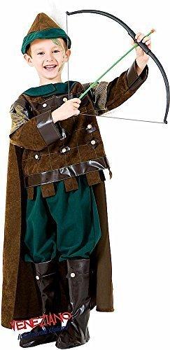 Fancy Me Italienische Herstellung Deluxe Jungen mittelalterlich Wald Archer Welttag des buches-Tage-Woche Halloween Karneval Kostüm Kleid Outfit 3 - 10 Jahre - 3 - Bogenschießen Kostüm Für Jungen