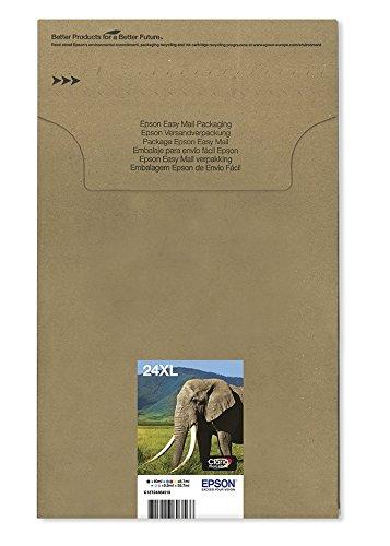 Preisvergleich Produktbild Epson Original T2438 Elefant, Claria Photo HD Tinte (hochauflösende Fotodrucke, Multipack 6-farbig) (CYMK + Light cyan, Light magenta)