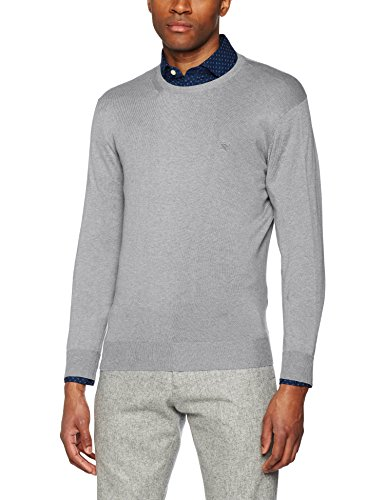 Hackett Herren Sweatshirt Pima Cotton Crew Neck, Grau (LT Grey 905), Large