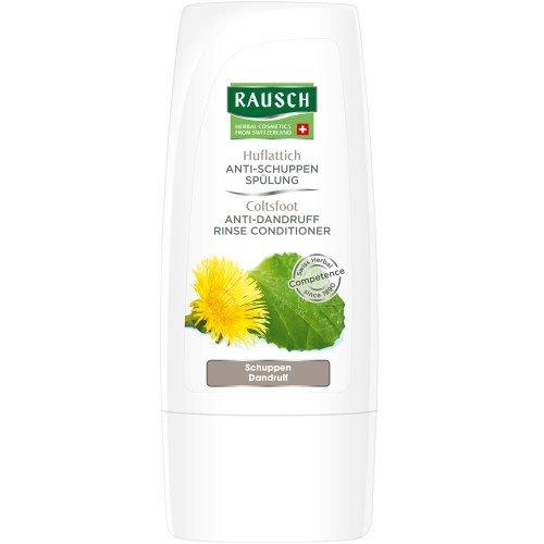 Rausch Huflattich Anti-Schuppen Spülung (feuchtigkeitsspendend, beruhigt die Kopfhaut, ohne Silikone und Parabene - Vegan), 4er Pack (4 x 30 ml)