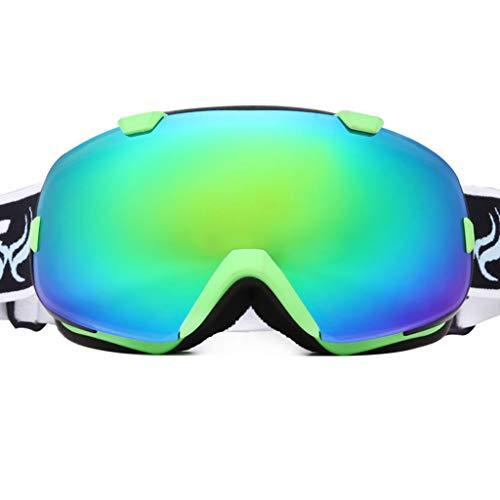 XY&CF-Ski glasses Skibrille Doppel Anti-Fog große sphärische Kokain Myopie Anti-UV-Anti-Schnee-blind Skibrille (Farbe : C)