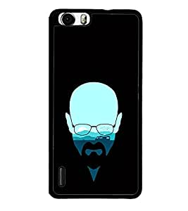 Thinking Man Graffiti 2D Hard Polycarbonate Designer Back Case Cover for Huawei Honor 6