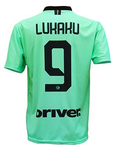 LC SPORT SRL Second Camiseta Inter ROMELU LUKAKU 9 Réplica Away Autorizada 2019-2020 Niño Talla-Años...