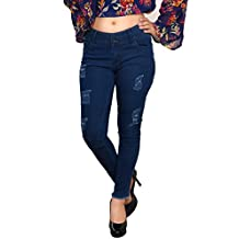 ICO Blue Star Women Slim Fit Ankle Length Stretchable Jeans